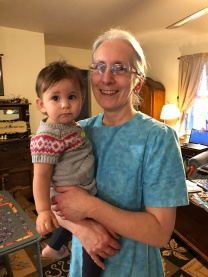 Grandma Snader with Adilene. Adilene LOVES both her Grandmas, which is awesome because it gives us better babysitting options.