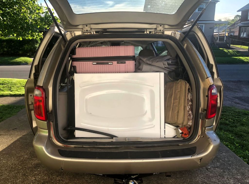 Snader Flyby blogs about minivan picking up free dryer